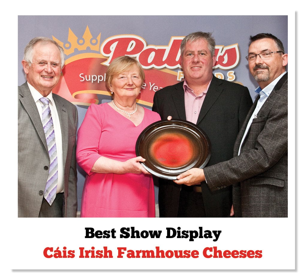 Sean Fitzgerald (Cratloe Hills Cheese), Breda Maher (Cooleeney), Padraig O'Farrell (Carrigaline Cheese) & Patrick Clement (Pallas Foods)
